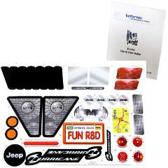 Power Wheels X6645 0310 Jeep Hurricane Decal Sheet X6645 0310