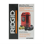Ridgid VP2000 Wet/Dry Vac Pump Accessory